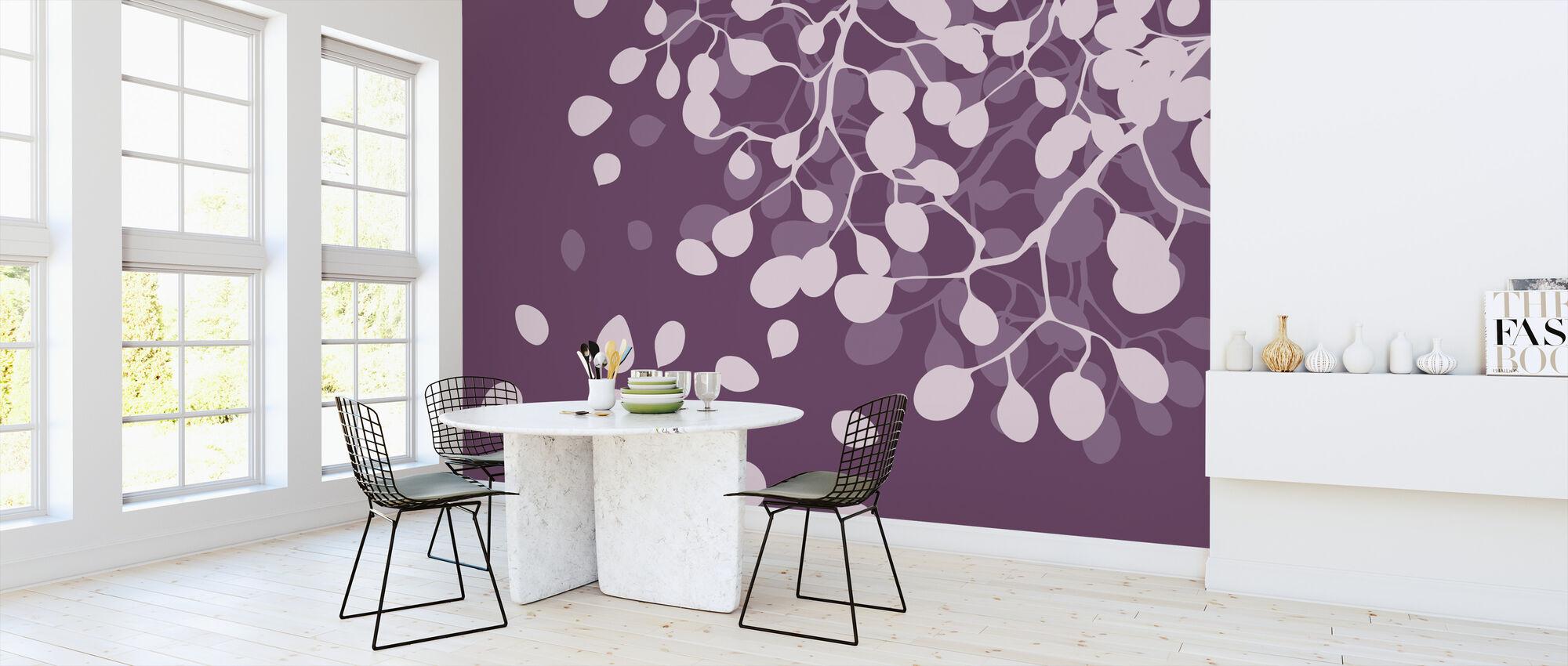 Birch - Plum - Wallpaper - Kitchen