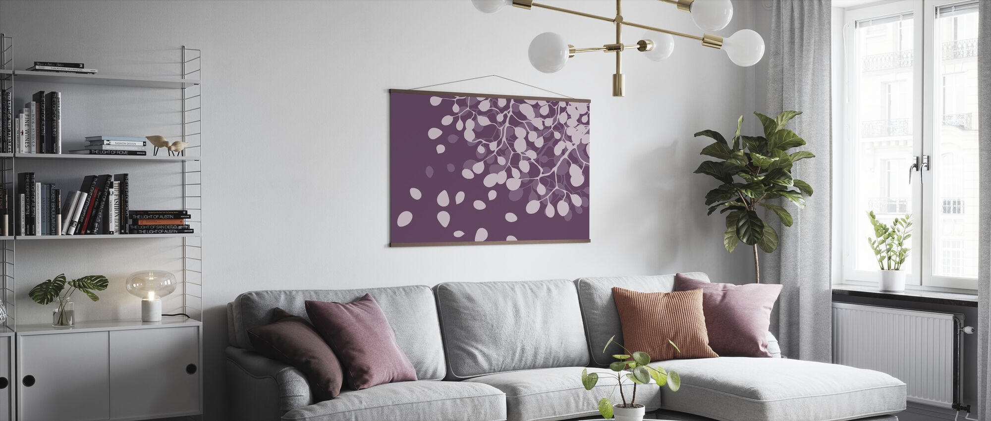 Birch - Plum - Poster - Living Room