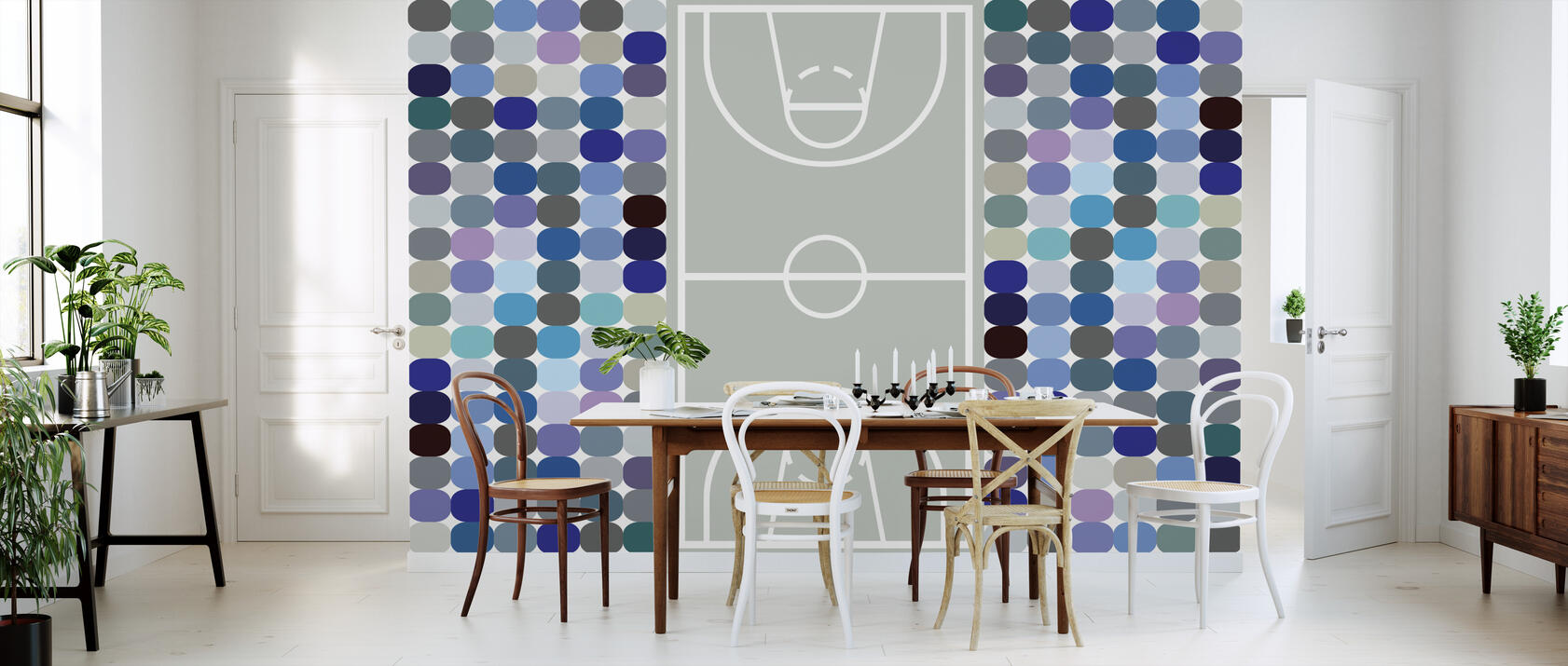 basketball mit fototapeten einrichten photowall. Black Bedroom Furniture Sets. Home Design Ideas