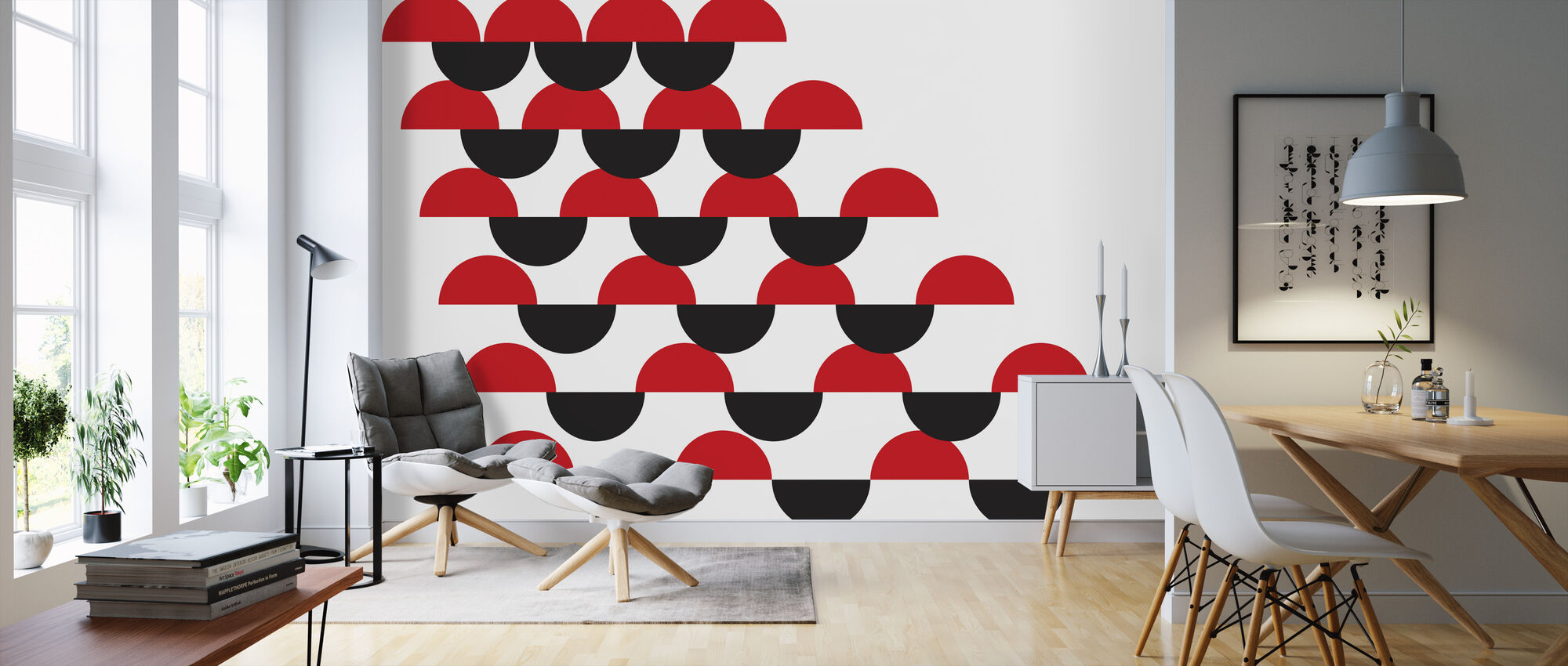 Habana Red and Black - Wallpaper - Living Room