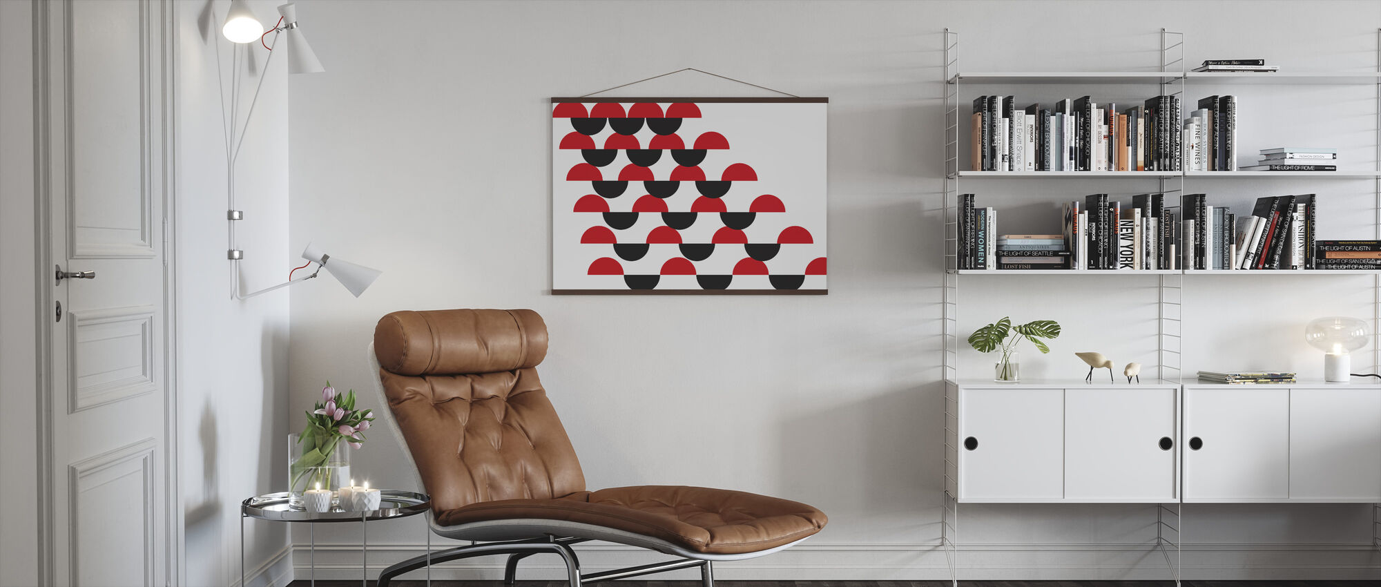 Habana Red and Black - Poster - Living Room