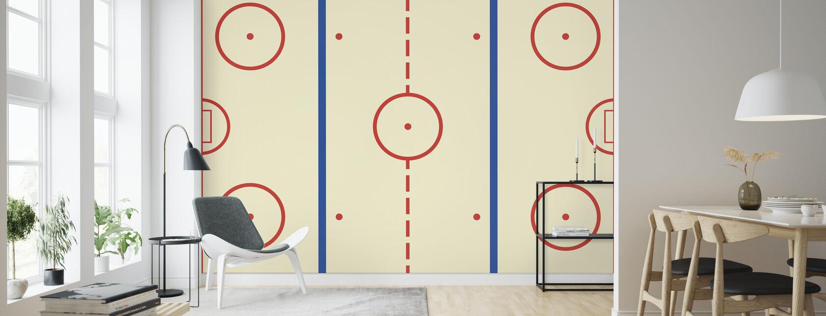 Eishockeybahn - Tapete - Wohnzimmer