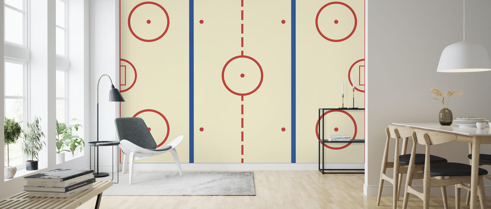 Ice Hockey Rink - Wallpaper - Living Room