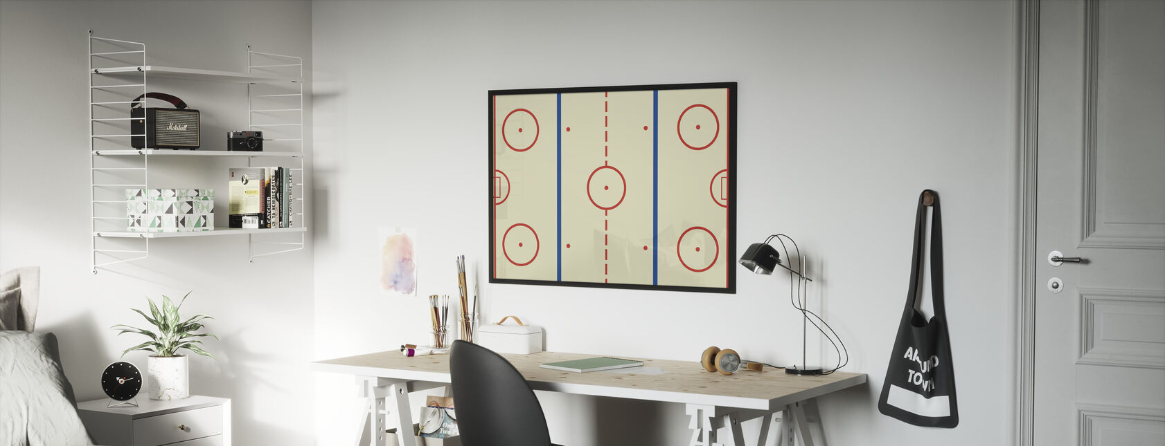 Jääkiekkohalli - Kehystetty kuva - Lastenhuone