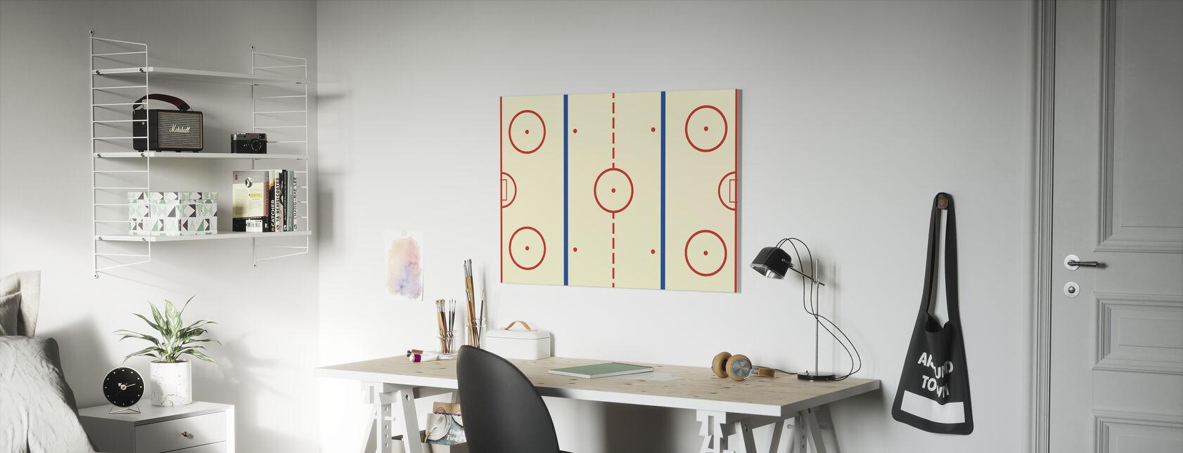IJshockeybaan - Canvas print - Kinderkamer