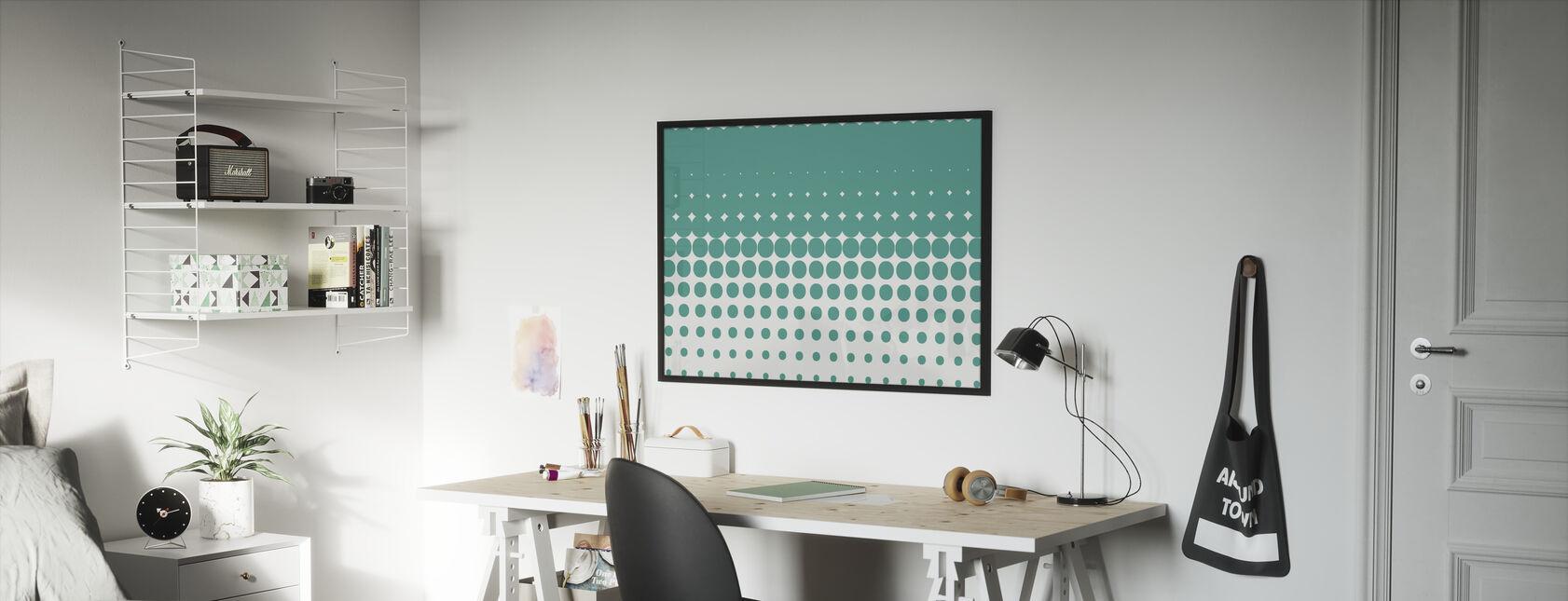 Nippon Green - Framed print - Kids Room