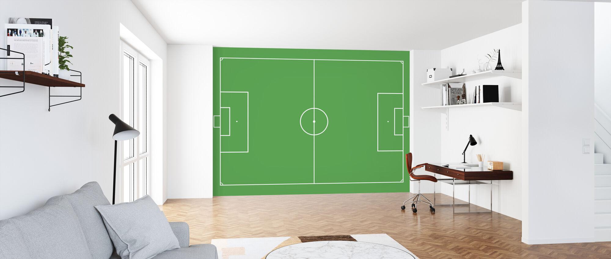 Fußballplatz - Tapete - Büro