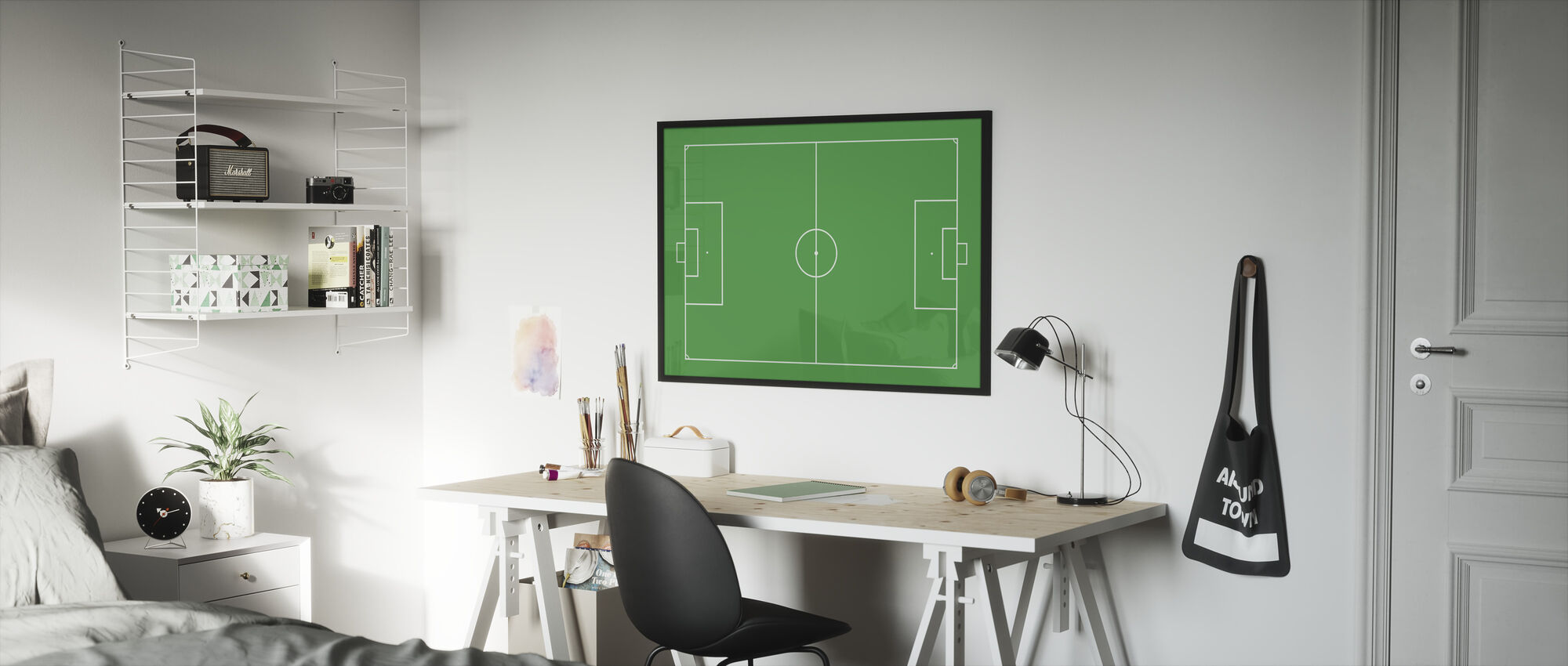 Soccer Field - Framed print - Kids Room