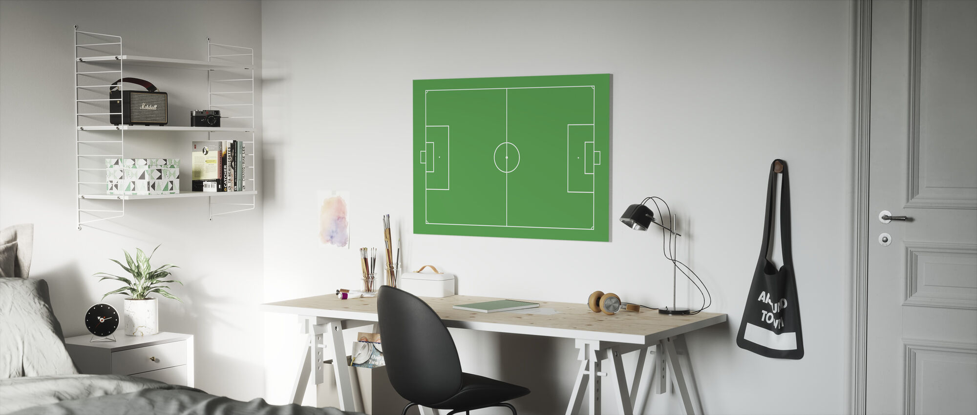 Soccer Field - Canvas print - Kids Room