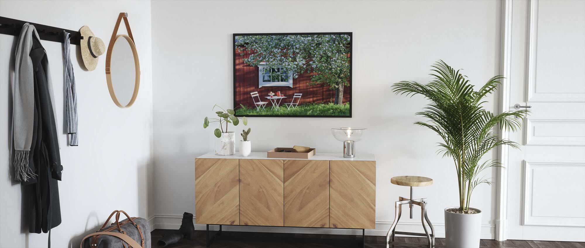 Puutarha loma - Kehystetty kuva - Aula