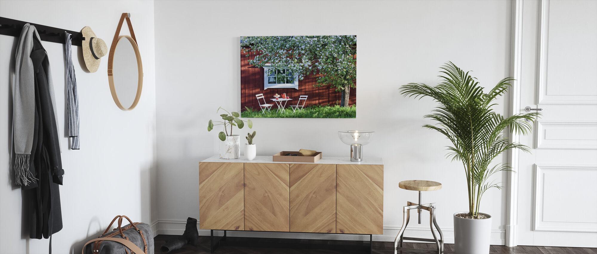 Tuin Vakantie - Canvas print - Gang