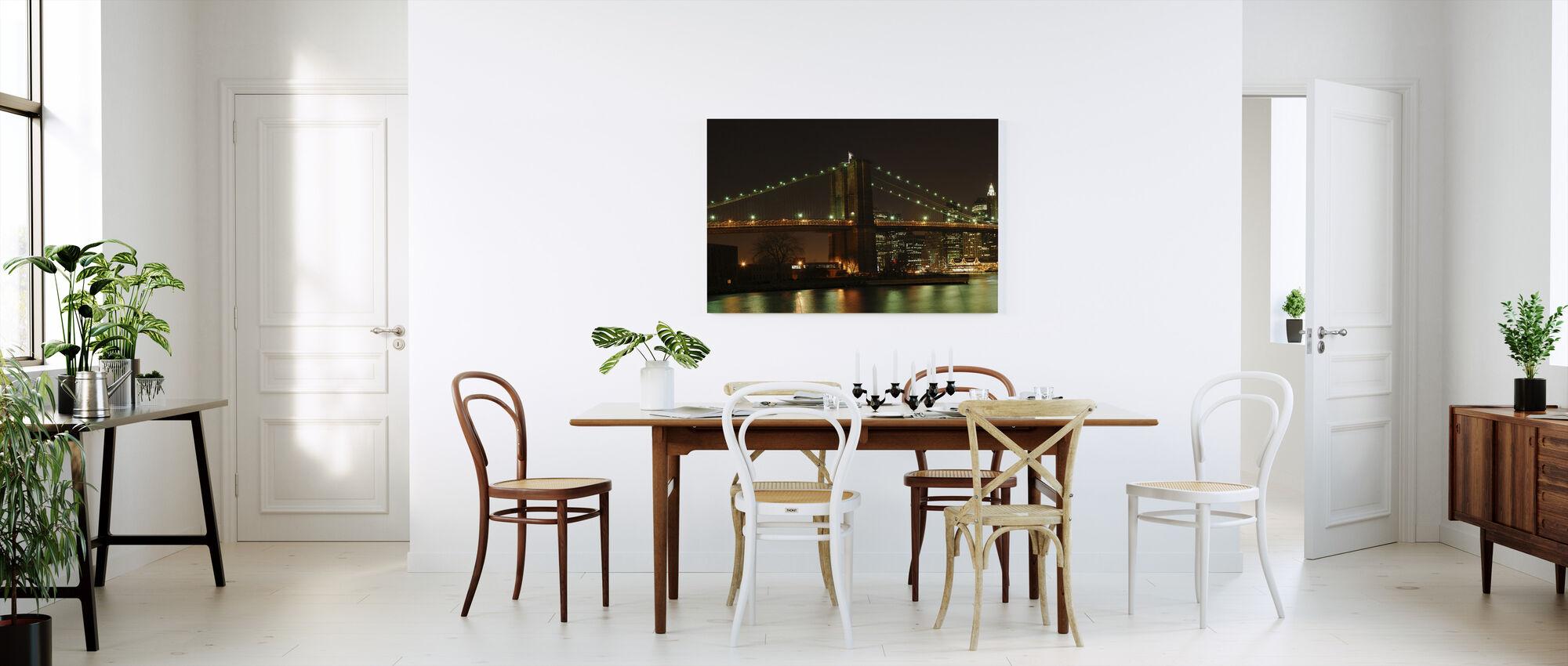 Brooklyn Bridge Full View - Canvas print - Kitchen