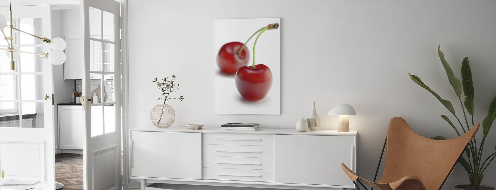 Two Cherries - Canvas print - Living Room