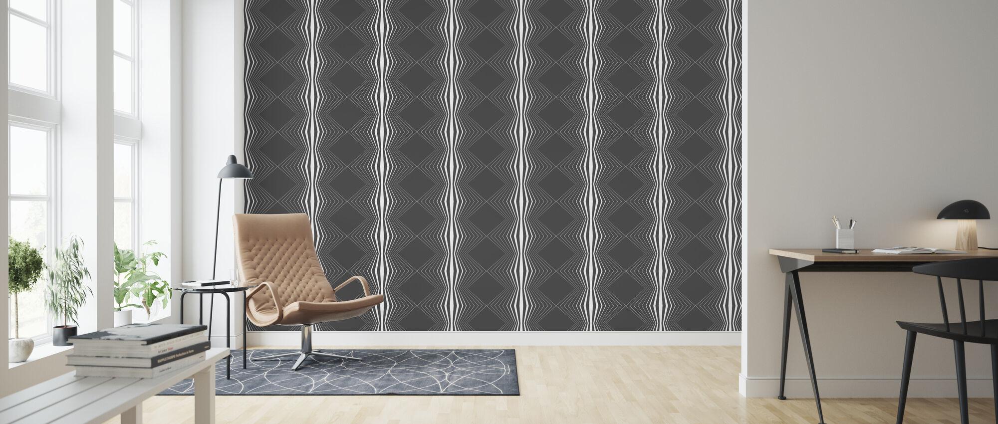Zhape - White - Wallpaper - Living Room