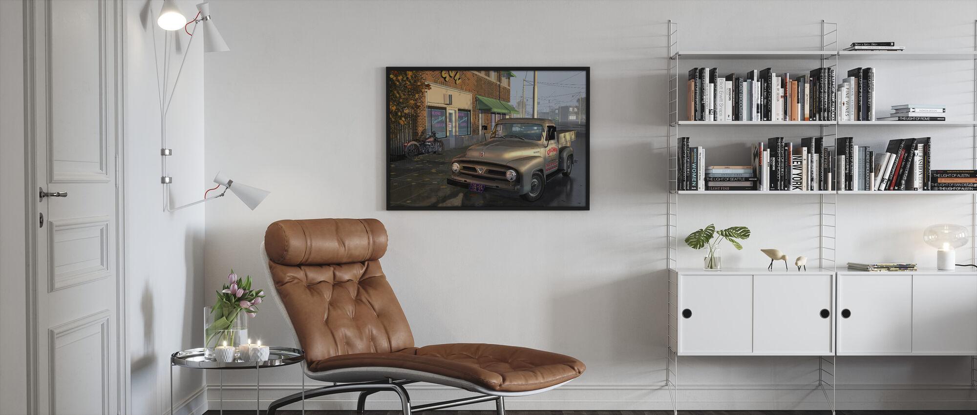 Lastbil - Inramad tavla - Vardagsrum