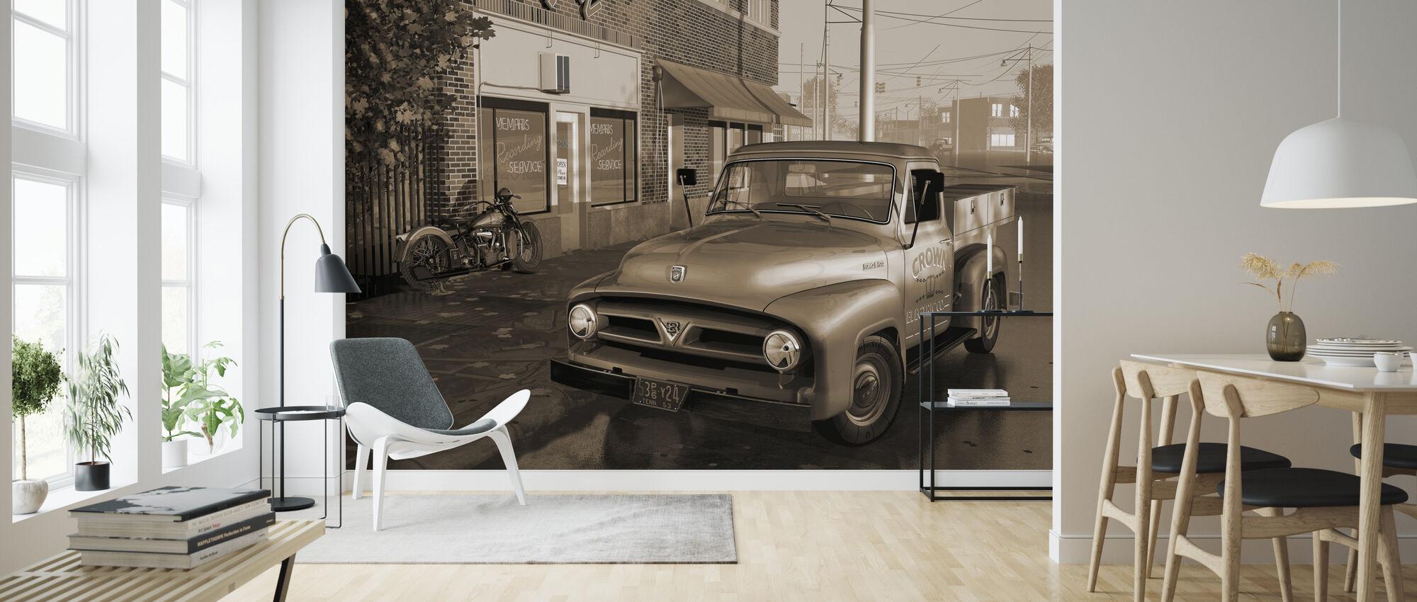 Truck Sepia - Wallpaper - Living Room