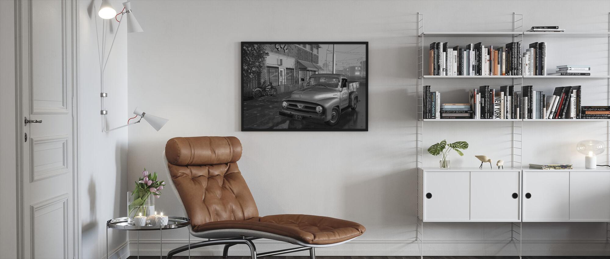 Truck BW - Framed print - Living Room
