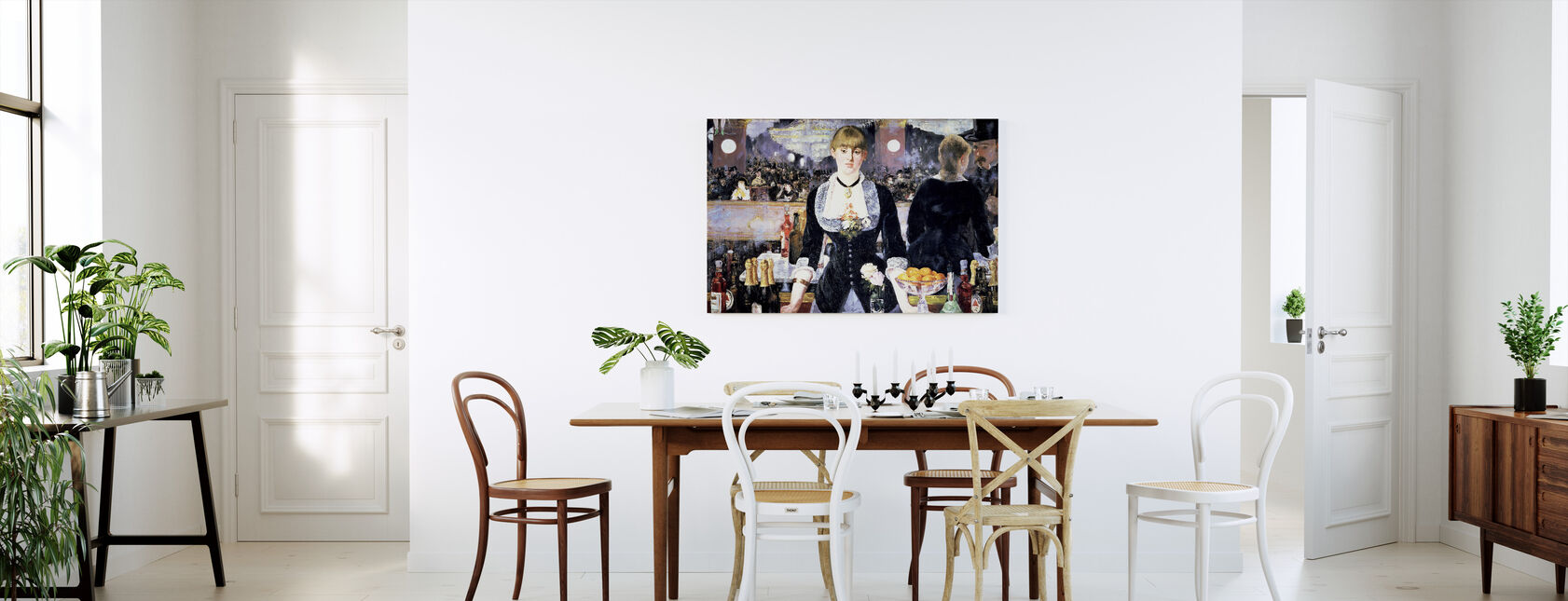 Bar at Folies-Bergere, Edouard Manet - Canvas print - Kitchen