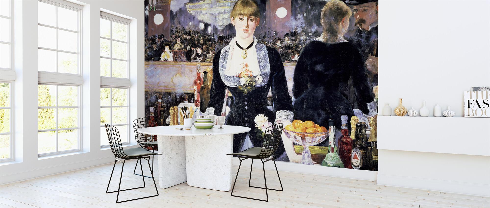 Bar at Folies-Bergere, Edouard Manet - Wallpaper - Kitchen