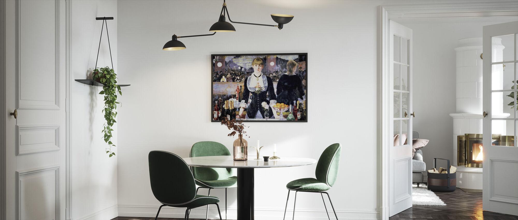 Baari, Festies-Bergere, Edouard Manet - Kehystetty kuva - Keittiö
