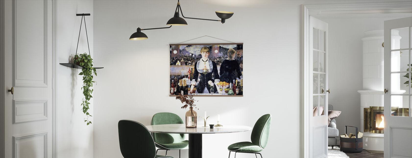 Bar på Folies-Bergere, Edouard Manet - Plakat - Kjøkken