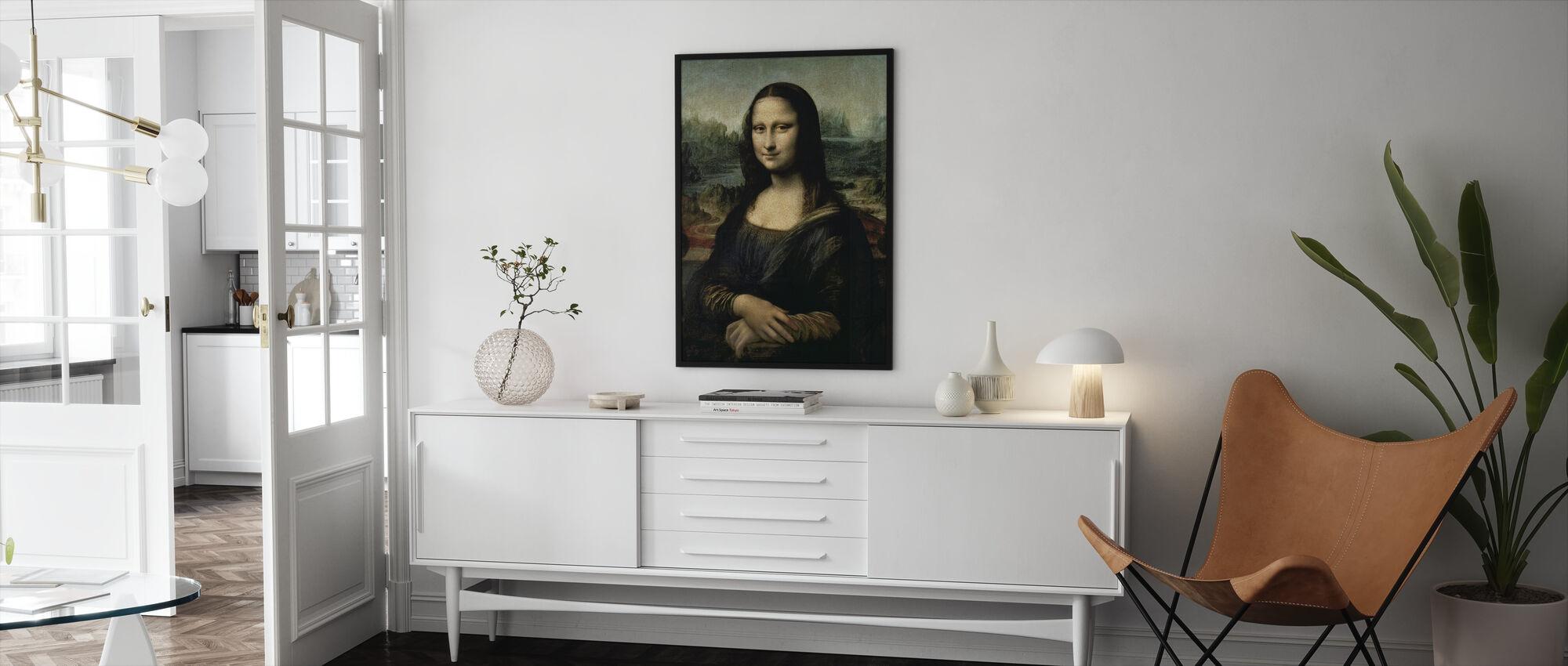 Mona Lisa, Leonardo da Vinci - Framed print - Living Room