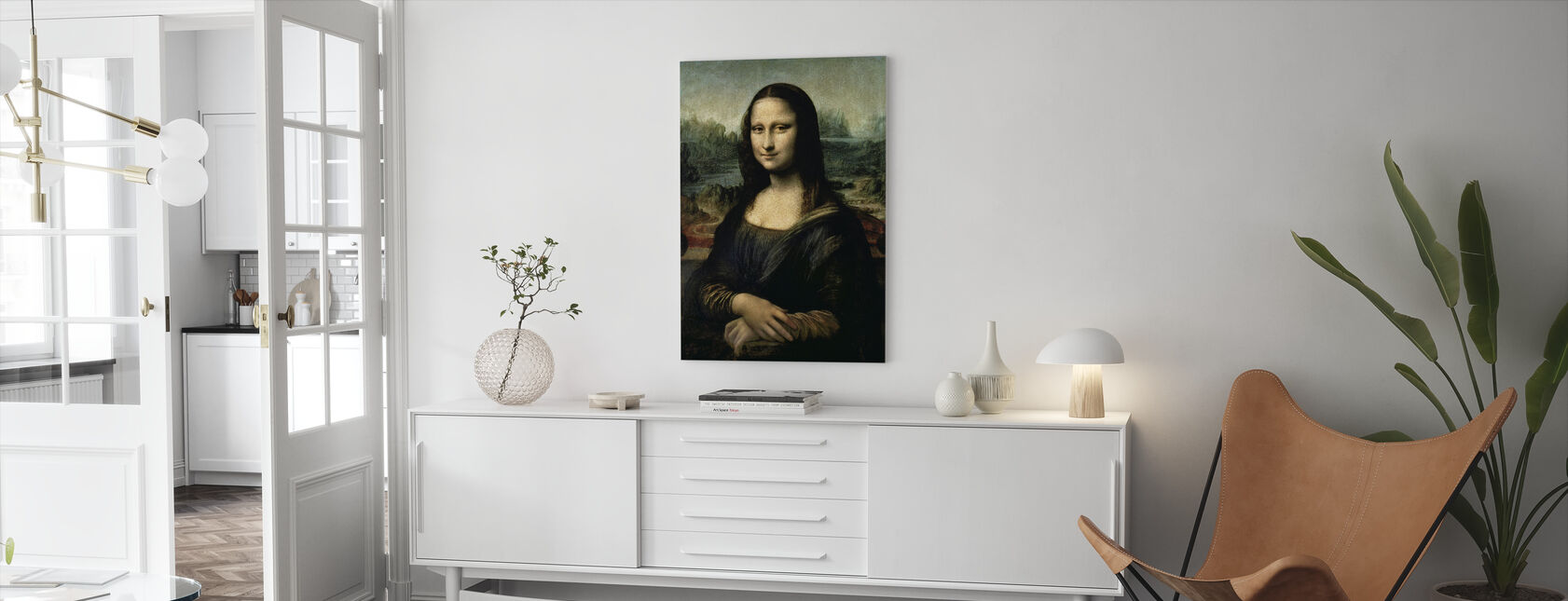 Mona Lisa, Leonardo da Vinci - Lerretsbilde - Stue