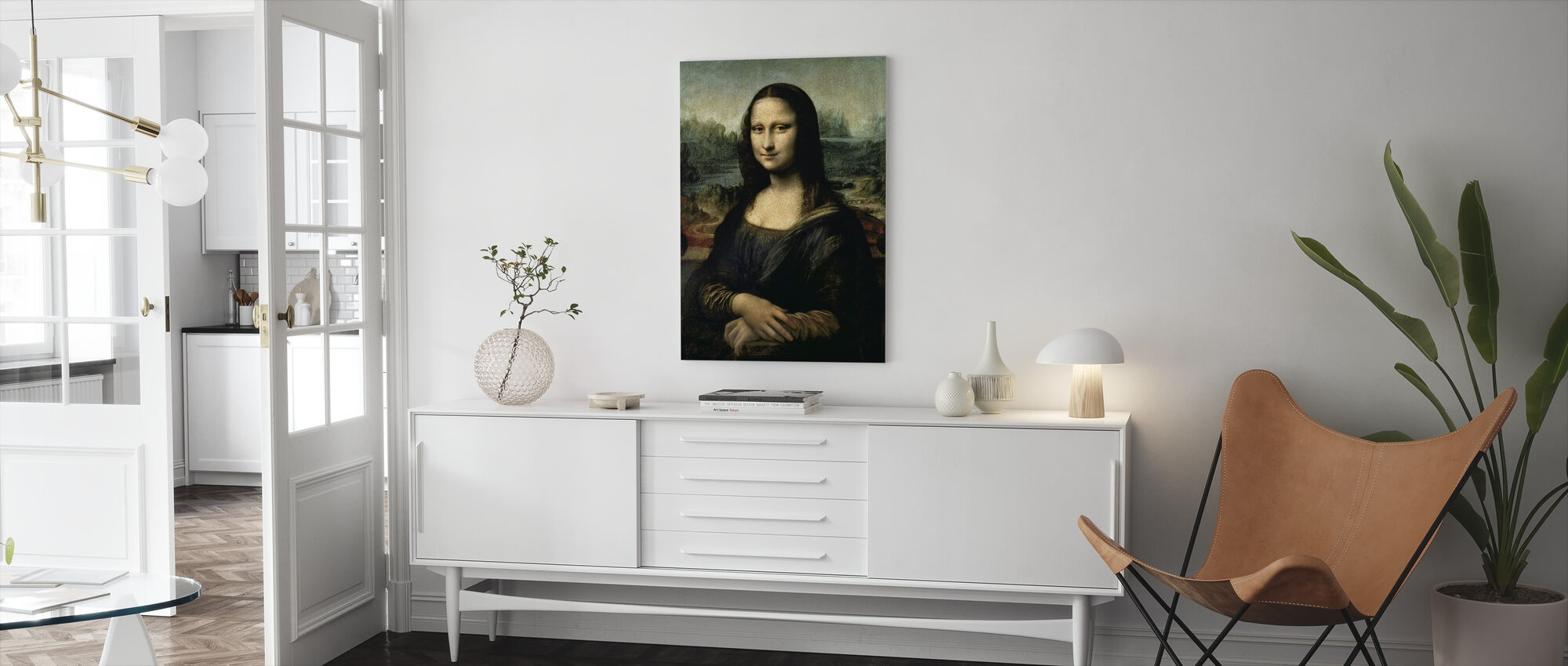 Mona Lisa, Leonardo da Vinci - Canvas print - Woonkamer