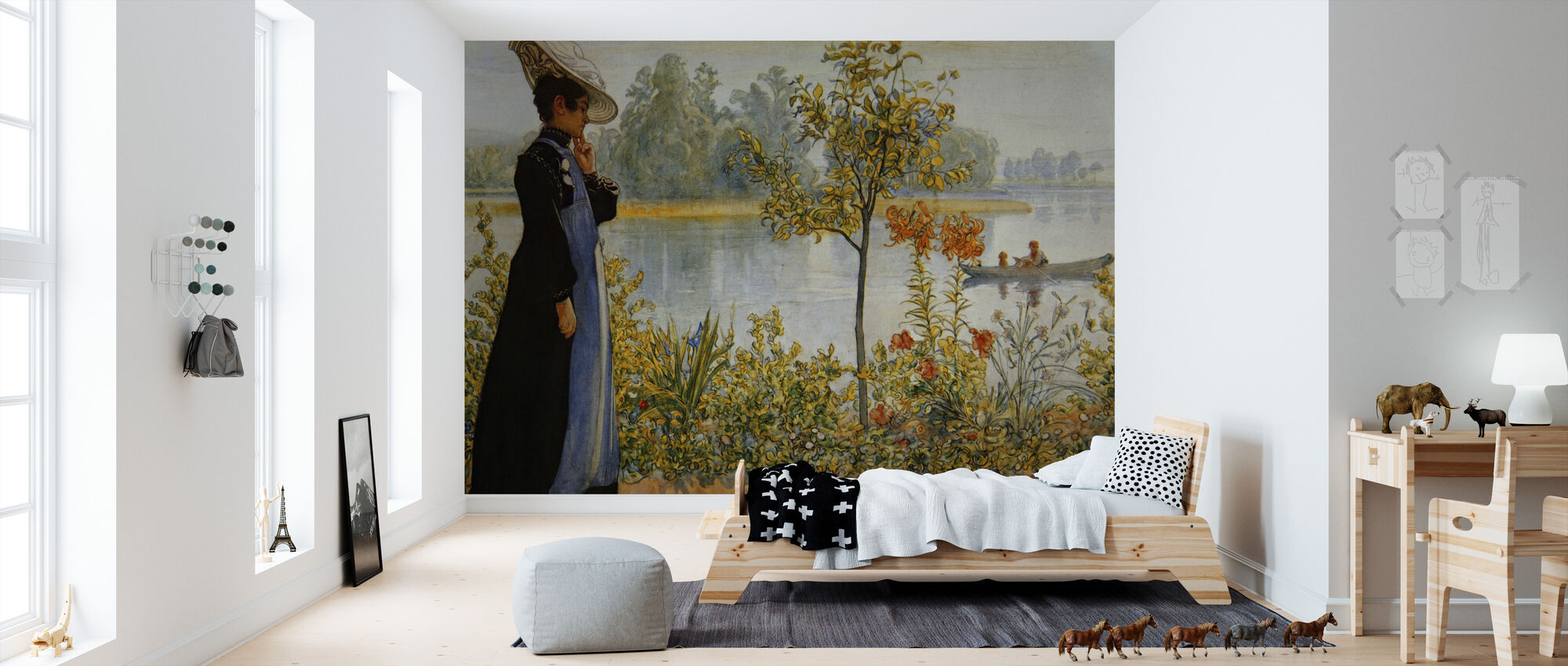 indian summer carl larsson wall murals online photowall. Black Bedroom Furniture Sets. Home Design Ideas