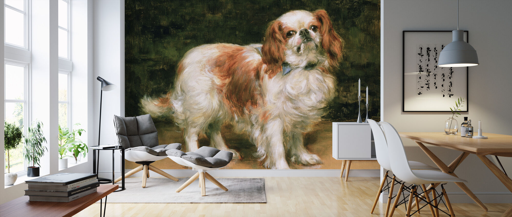 Kong Charles Spaniel, George Sheridan Knowles - Tapet - Stue