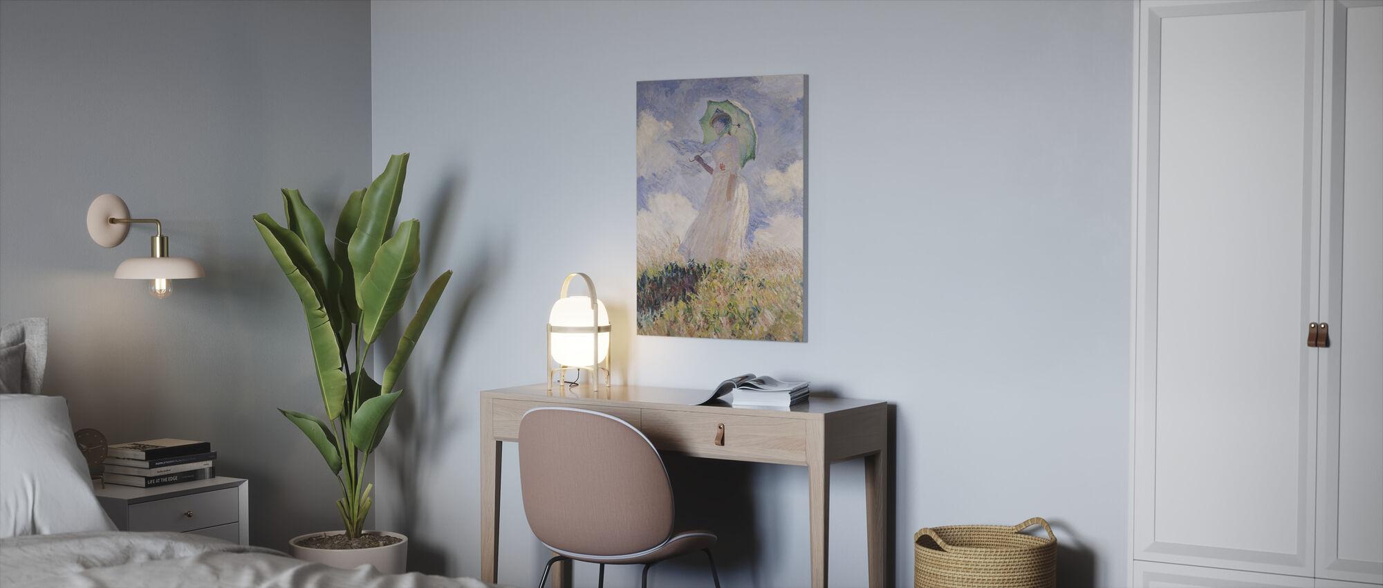 Vrouw met Parasol, Claude Monet - Canvas print - Kantoor