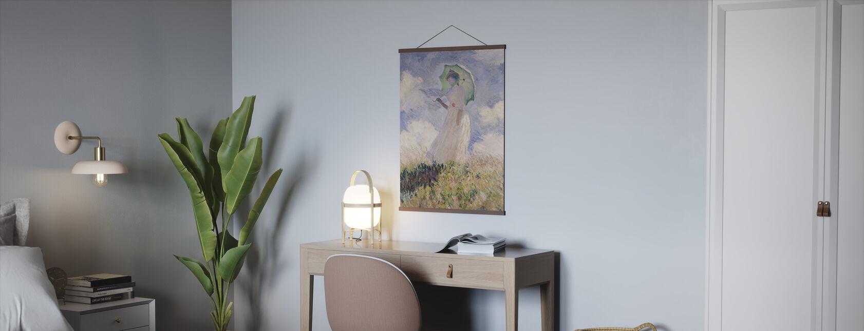 Kvinna Med Parasoll, Claude Monet - Poster - Kontor