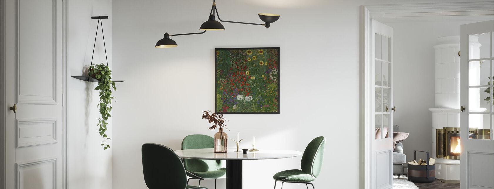 Garten mit Sonnenblumen. Gustav Klimt - Gerahmtes bild - Küchen