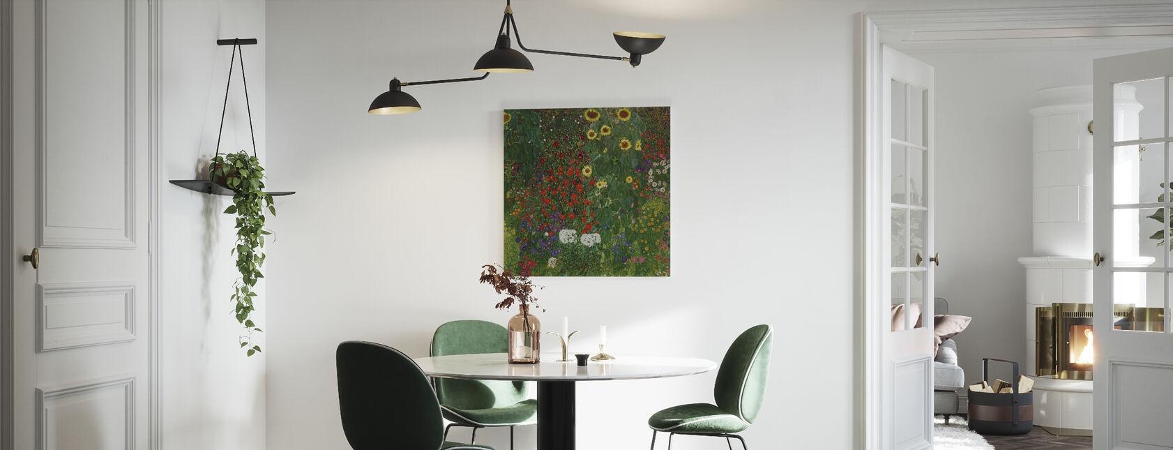Trädgård med solrosor. Gustav Klimt - Canvastavla - Kök