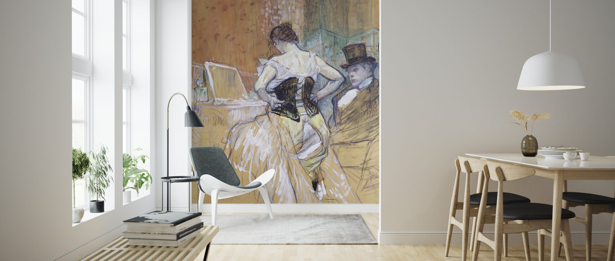 Women at her Toilet, Henri Toulouse Lautrec - Wallpaper - Living Room
