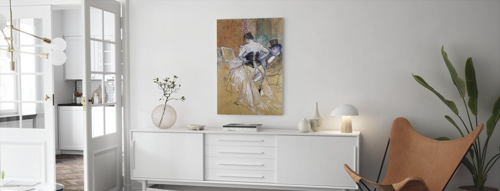 Vrouwen op haar toilet, Henri Toulouse Lautrec - Canvas print - Woonkamer