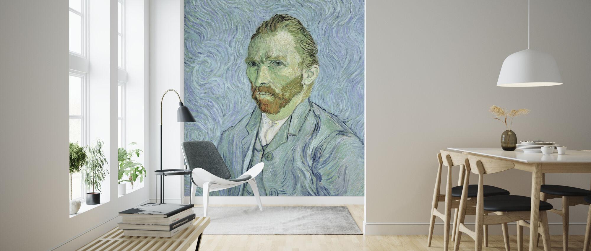 Self portrait, Vincent van Gogh - Wallpaper - Living Room