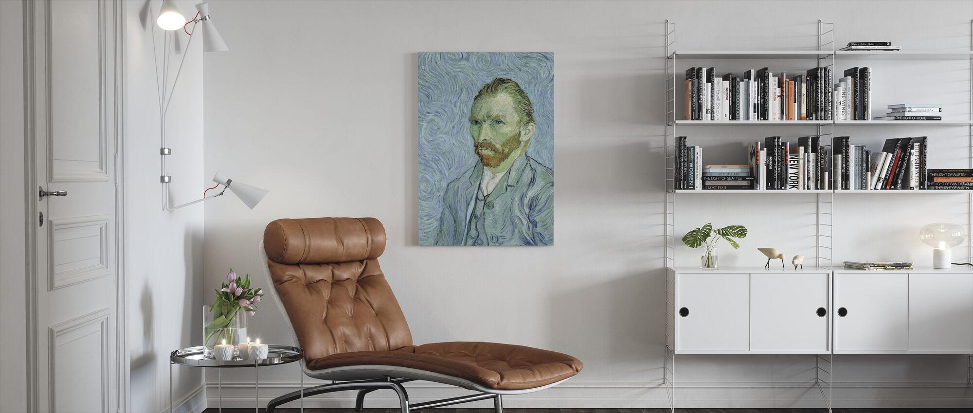 Self portrait, Vincent van Gogh - Canvas print - Living Room