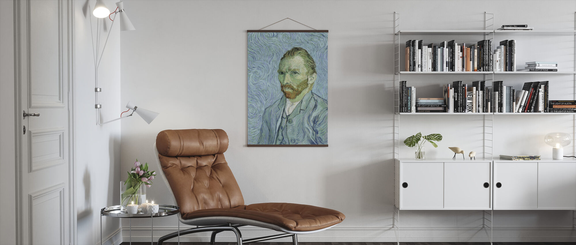 Self portrait, Vincent van Gogh - Poster - Living Room