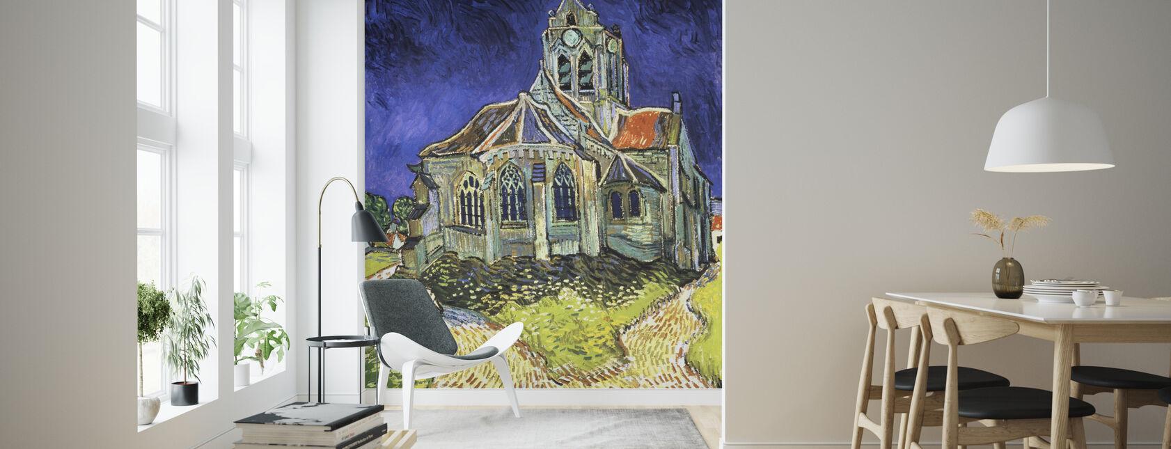 Kirke en Auvers-sur-Oise - Vincent van Gogh - Tapet - Stue
