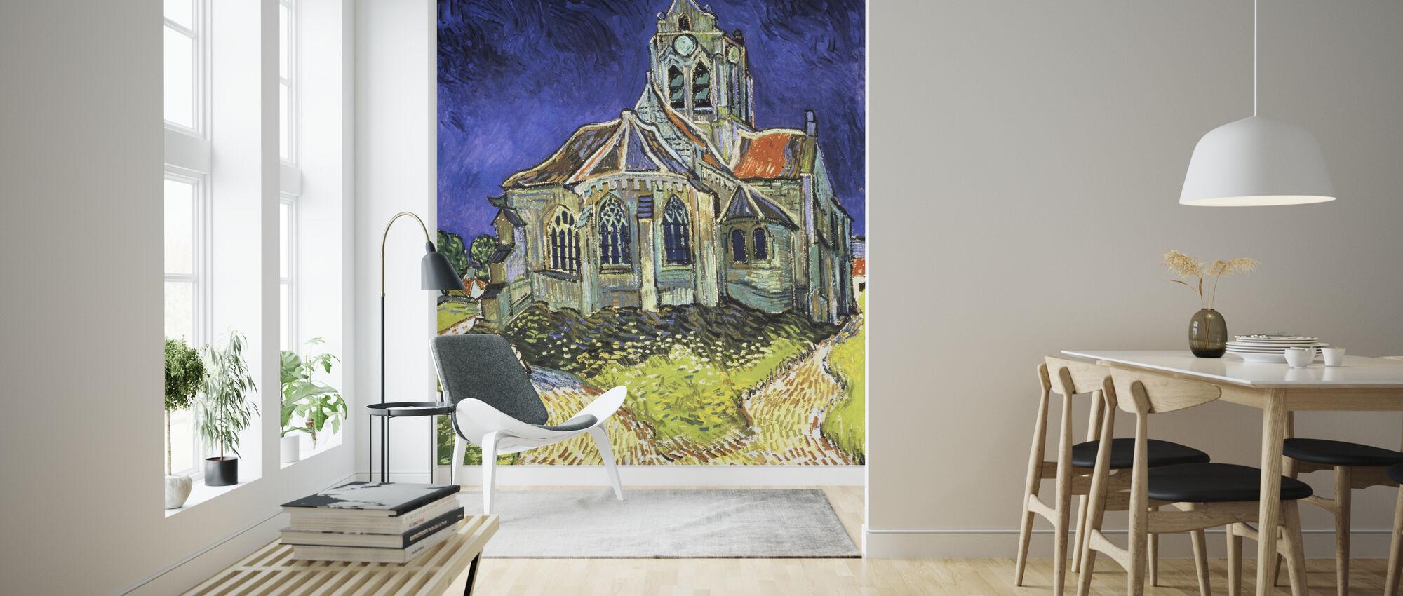Church at Auvers-sur-Oise - Vincent van Gogh - Wallpaper - Living Room