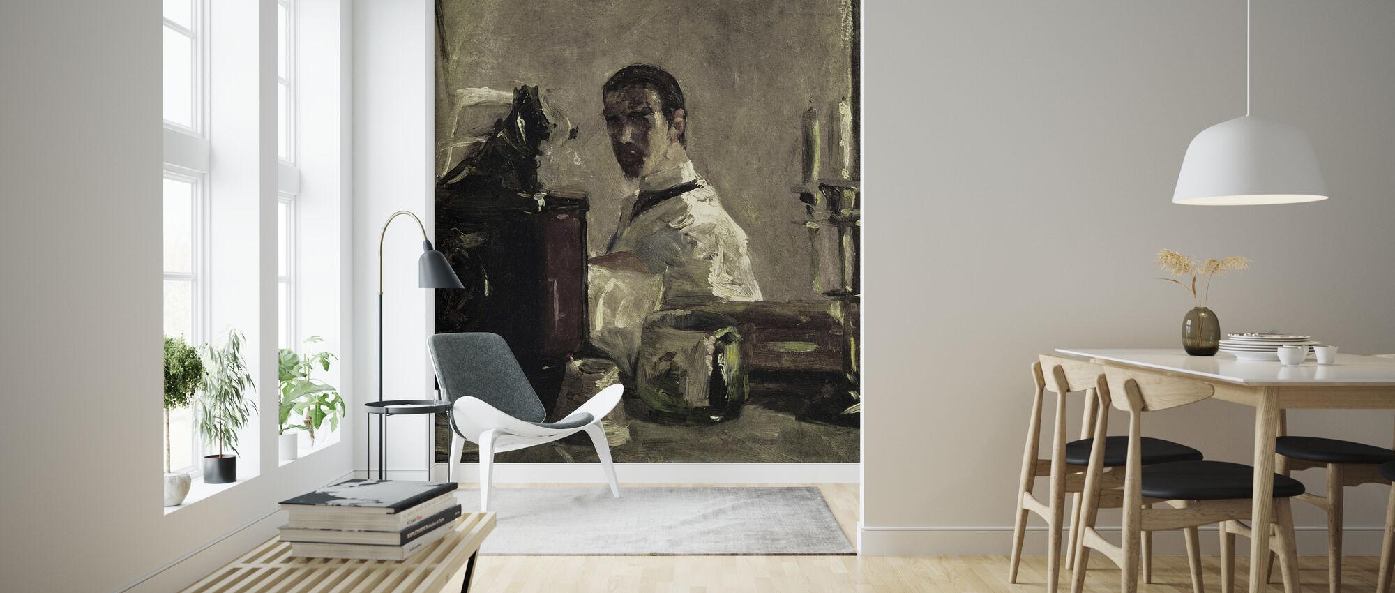 Zelfportret, Henri Toulouse Lautrec - Behang - Woonkamer