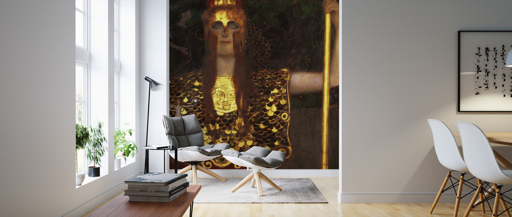 Minerva or Pallas Athena, Gustav Klimt - Wallpaper - Living Room