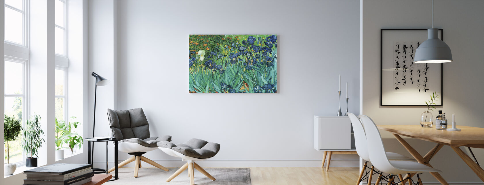 Irises, Vincent van Gogh - Canvas print - Living Room