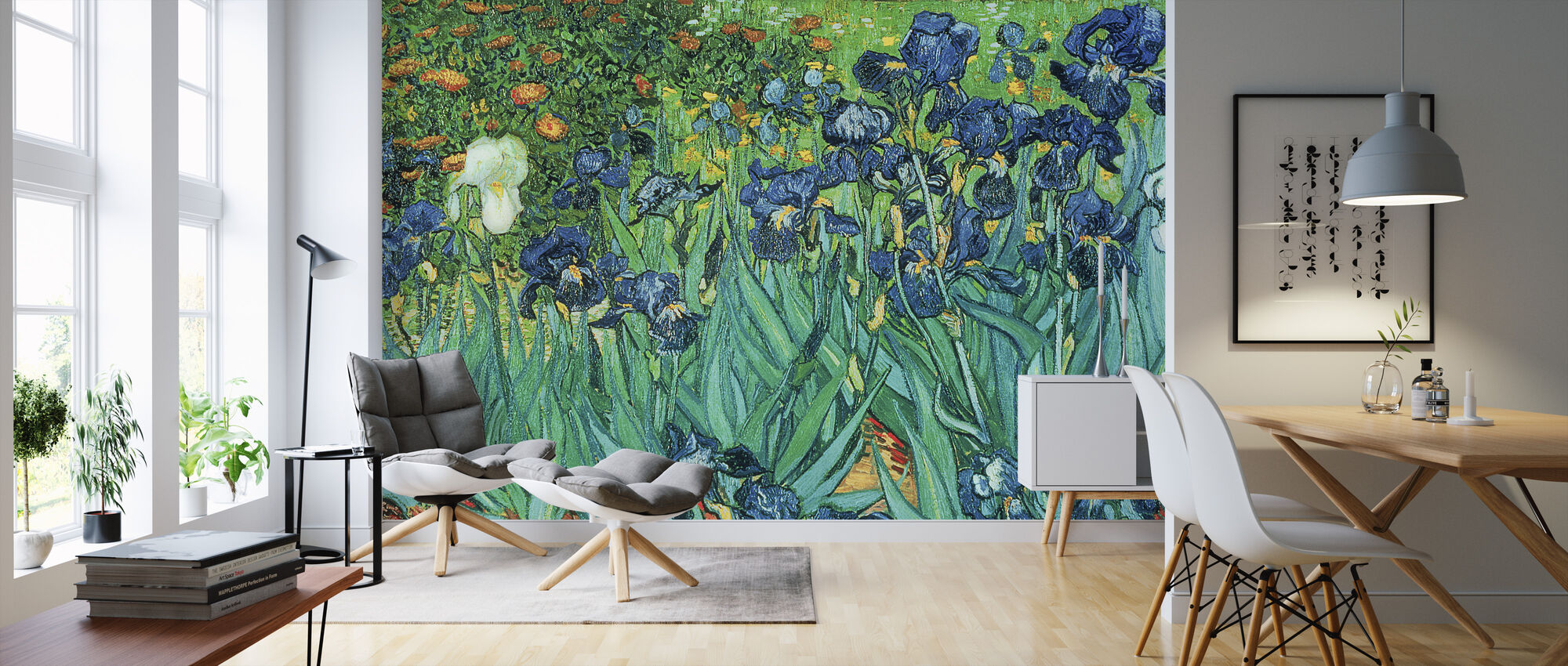 Irises, Vincent van Gogh - Wallpaper - Living Room