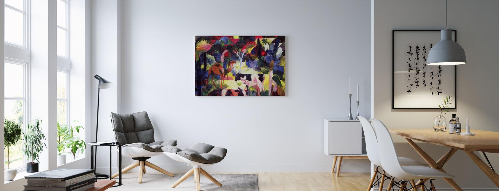 Kor och en kamel, August Macke - Canvastavla - Vardagsrum