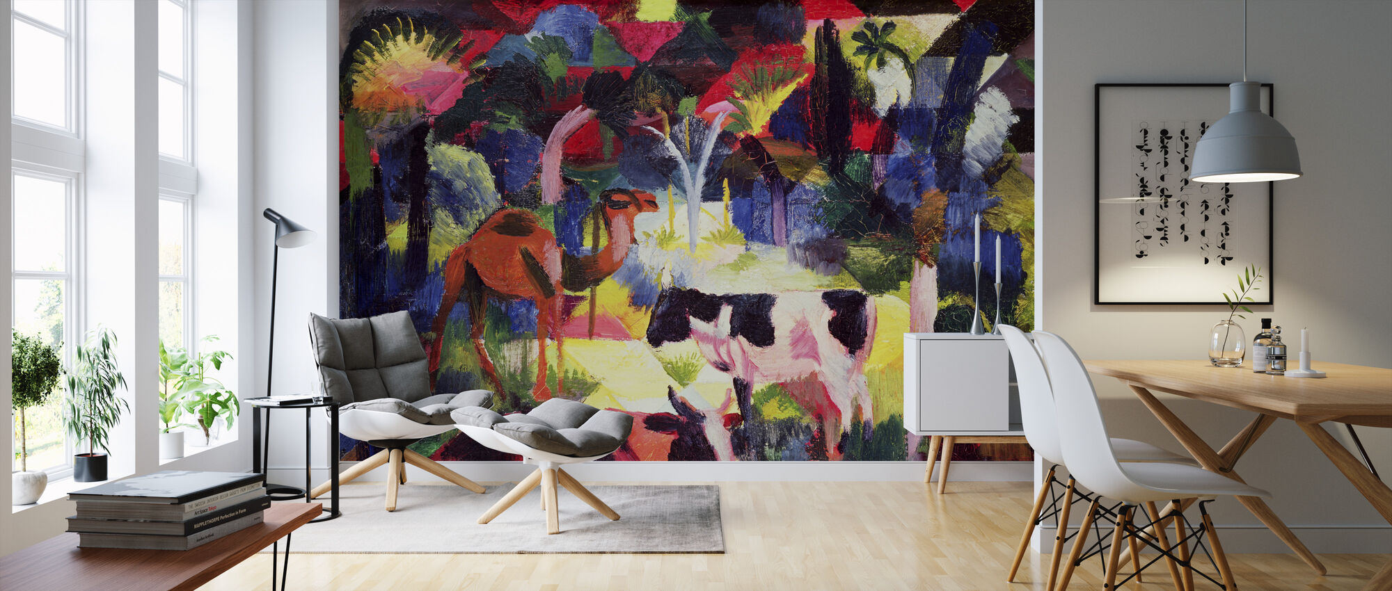 Cows and a Camel, August Macke - Wallpaper - Living Room