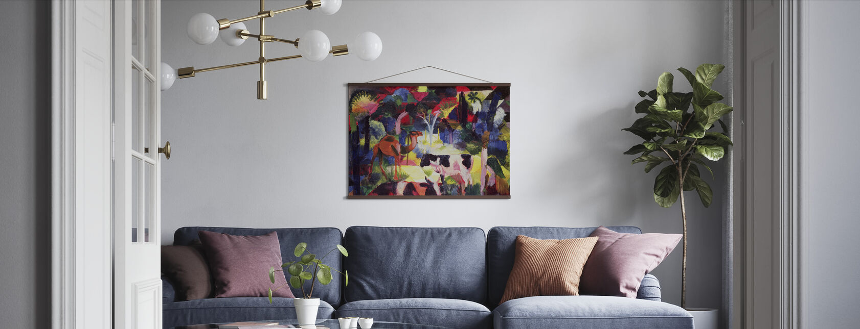 Cows and a Camel, August Macke - Poster - Living Room