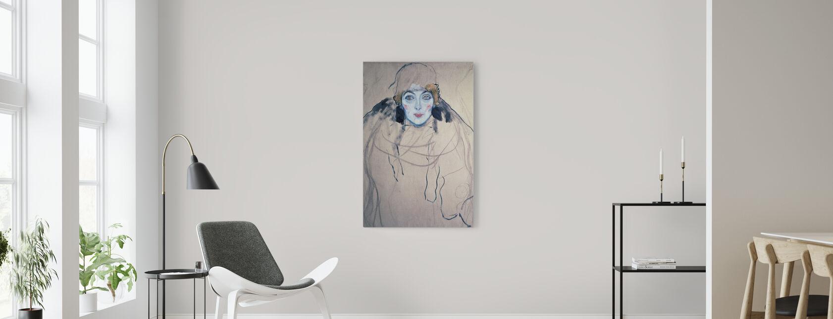 Head of a Woman, Gustav Klimt - Canvas print - Living Room