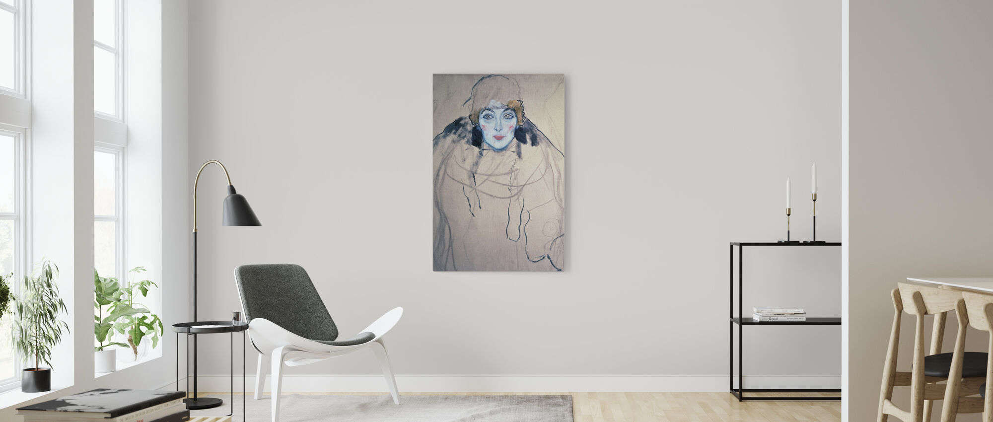 Head of a Woman, Gustav Klimt - Canvas print - Living Room